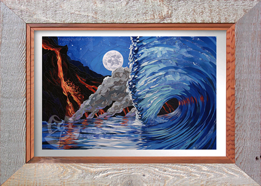 Temperature Rising Limited Edition Collage By Patrick Parker