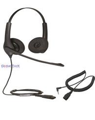 Polycom Compatible Jabra BIZ 1525 Headset w/ 2.5 mm Headset Cord