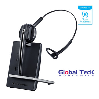 Sennheiser D10 Wireless USB PC Headset - Microsoft Skype/Lync Certified | Compatible with Softphones and Unified Communications