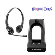 Sennheiser SD PRO2  ML Stereo (Duo)- Deskphone and PC - Microsoft Skype/Lync Certified cordless Headset | Compatible with Business Deskphones and PC