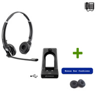 Sennheiser SD PRO2 ML Stereo (Duo)- Deskphone and PC - Microsoft Skype/Lync Certified cordless Headset