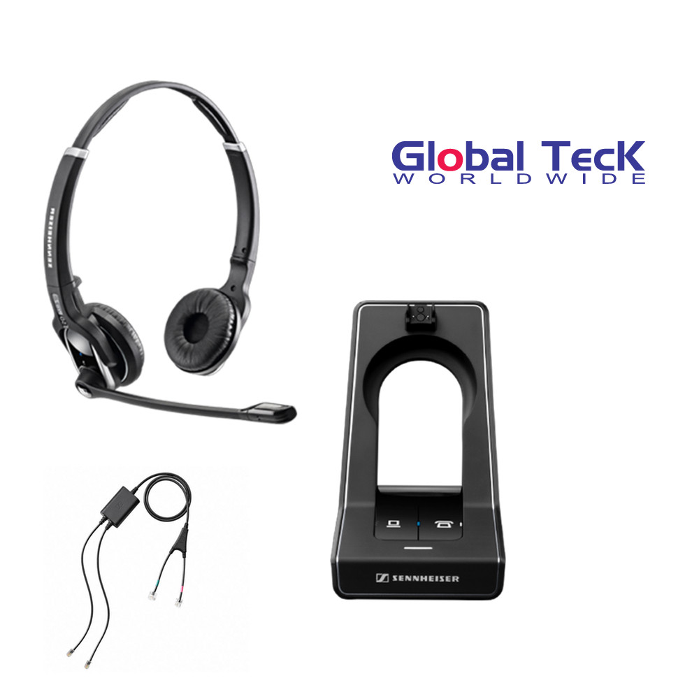 Sennheiser SD PRO2 - Stereo (Duo) Deskphone cordless Headset with Cisco EHS  Adapter | Compatible Cisco Models: 7821, 7841, 7861, 7942g, 7945g, 7962g,