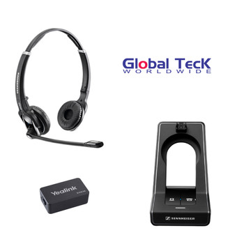 Sennheiser SD PRO2 - Deskphone cordless Headset with Yealink EHS Adapter