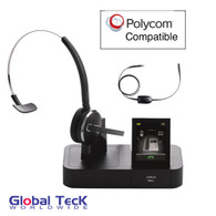 Polycom and Digium Phone Compatible Jabra PRO 9470 Bundle with EHS Remote Answering Adapter