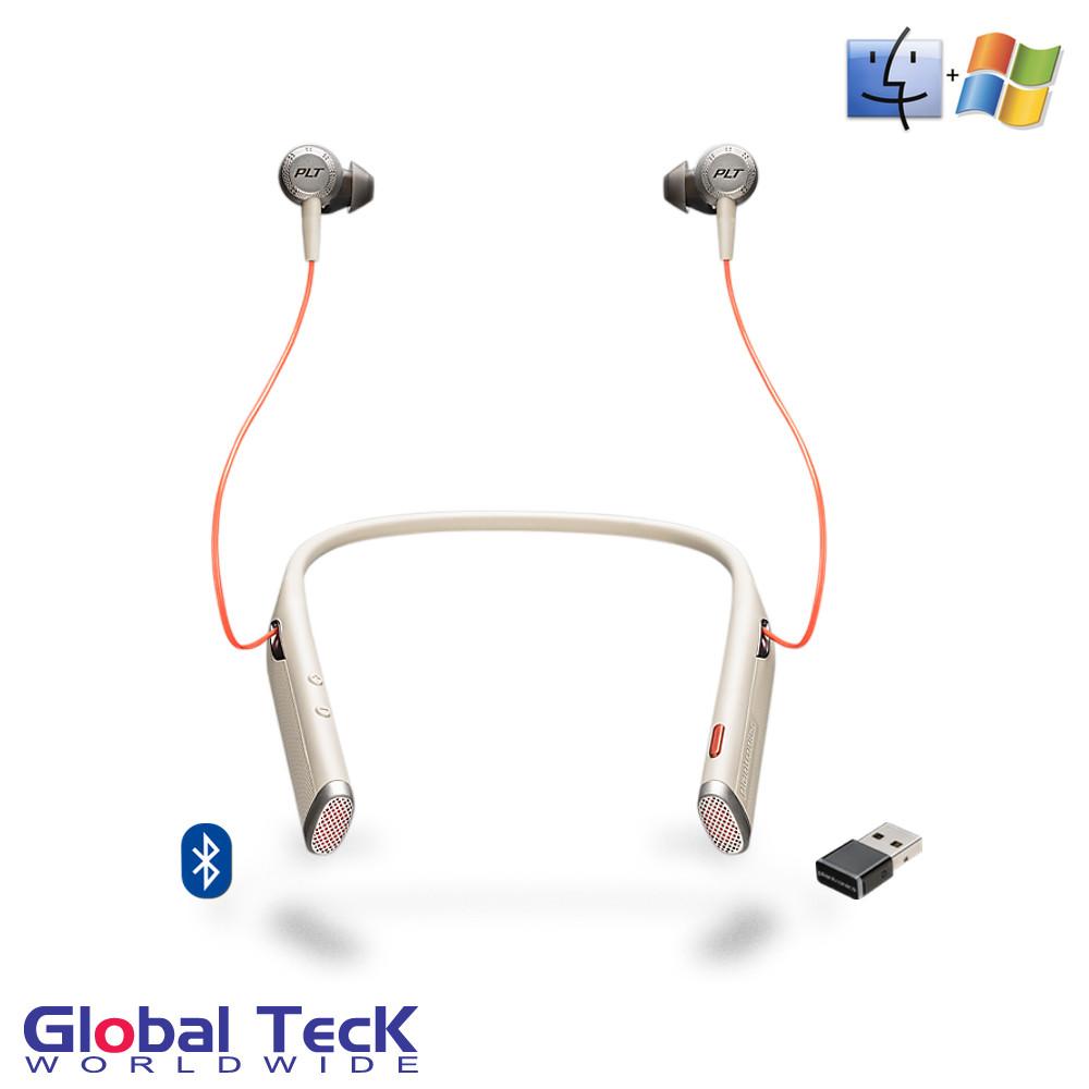 9afaa72e125 Plantronics Voyager 6200 UC DUO Bluetooth Headphone Neckband with ...