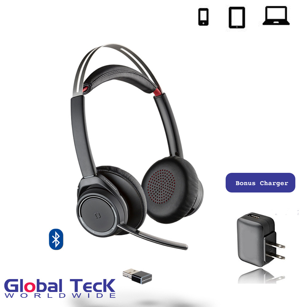 Plantronics Voyager Focus UC - Microsoft 202652-02-B | Certified for Skype  for Business Optimized for Microsoft Lync, Smartphones, PC, MAC, Tablet,