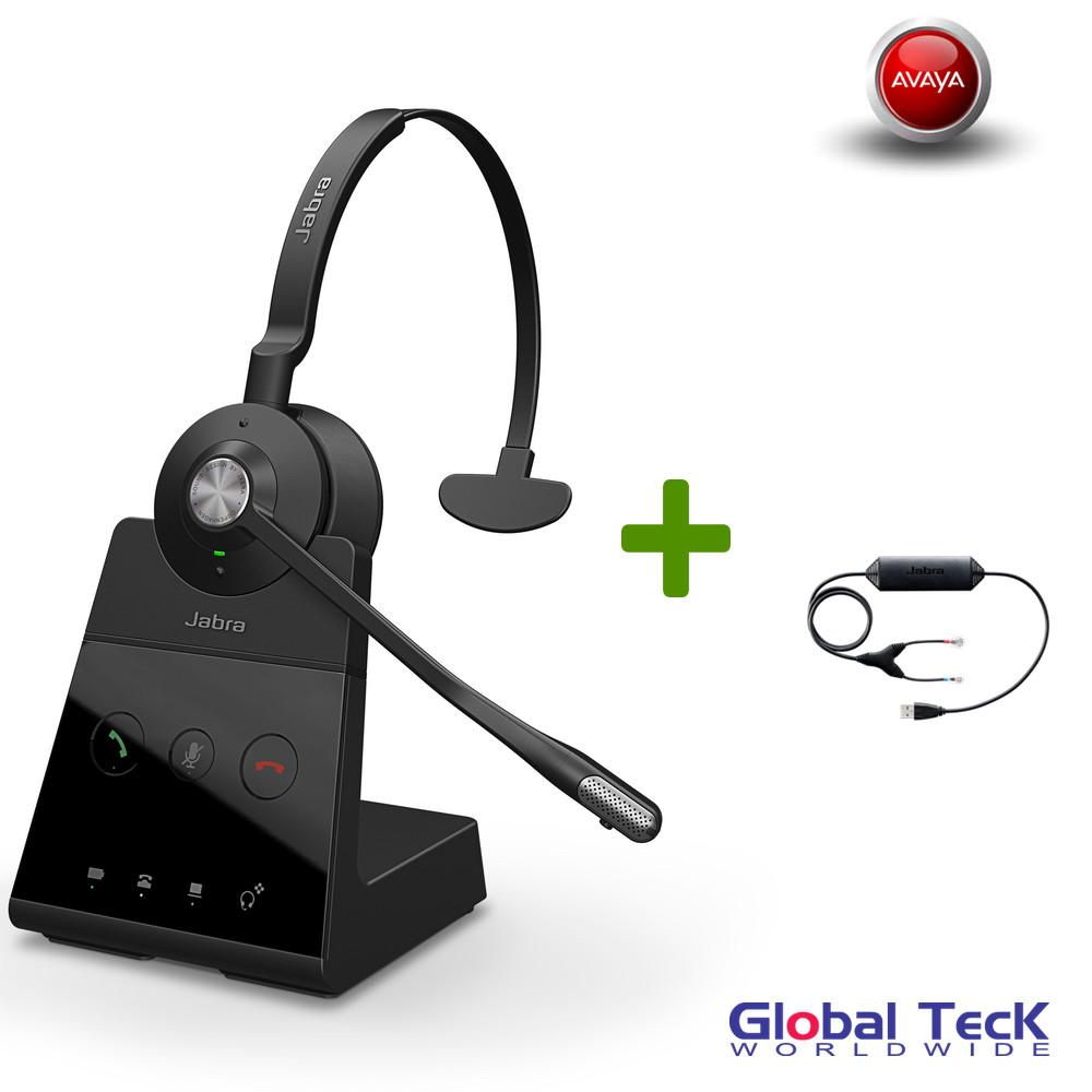 Avaya Phone Compatible Jabra Engage 65 Wireless Mono Headset #9553-553-125    PC and Deskphone, USB   For Avaya 1120E, 1140E, 1150E, 1165E   13 hour
