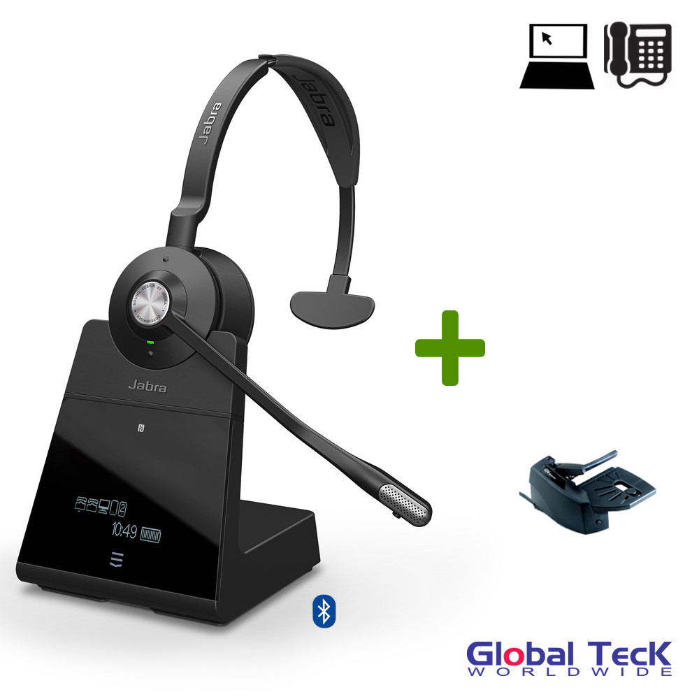 5c76498704b Jabra Engage 75 Wireless Mono Headset Bundle #9556-583-125-B ...