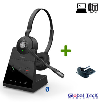 Jabra Engage 65 Wireless Stereo Headset with Remote Lifter