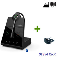 Jabra Engage 65 Wireless Convertible Headset with Remote Lifter