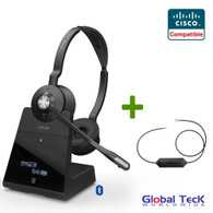 Cisco Compatible Jabra Engage 75 Wireless Headset Bundle with EHS Adapter