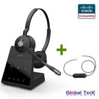 f33c6c1dcd6 Cisco Compatible Jabra Engage 65 Wireless Duo Headset Bundle with EHS  Adapter