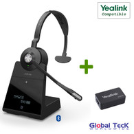 Yealink Compatible Jabra Engage 75 Wireless Mono Headset Bundle with EHS Adapter