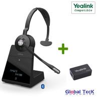 Yealink Compatible Jabra Engage 75 Wireless Mono Headset Bundle with EHS Adapter