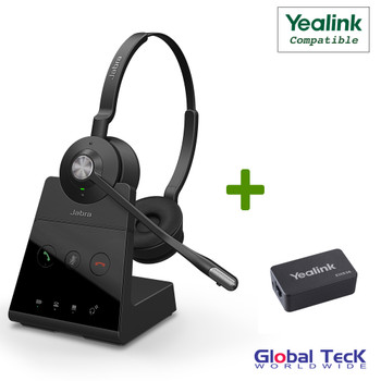 Yealink Compatible Jabra Engage 65 Wireless Duo Headset Bundle with EHS Adapter
