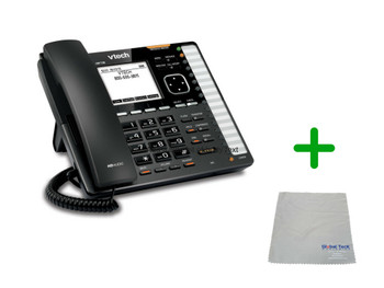 Vtech VSP736 | 6 SIP Account Office Desk Phone | VoIP, PoE, HD Wideband Audio, 6-Lines, Speakerphone, 2-port Ethernet| Up to 6 SIP Accounts | Business Office Desk Phone | Requires SIP/VoIP Service (VSP736)