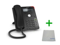 SNOM D712 IP Telephone | VoIP, PoE, HD Wideband Audio, 4 Lines, Speakerphone, 2-port Ethernet, and 3.2 inch Display | Up to 4 SIP Accounts | Business Office Desk Phone | Requires SIP/VoIP Service (D712)