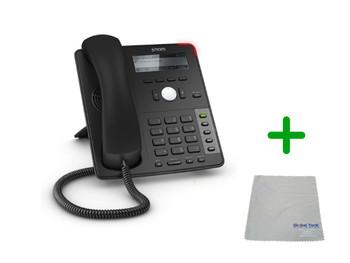 SNOM D715 | 4 SIP Account Office Desk Phone |VoIP, PoE, HD Wideband Audio, 4 Lines, 2-port 1 Gigabit Ethernet, | Up to 4 SIP Accounts, | Business Office Desk Phone | Requires SIP/VoIP Service (D715)