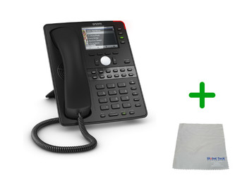 SNOM D765 | 12 SIP Account Office Bluetooth Desk Phone |VoIP, PoE, HD Wideband Audio, 12 Lines, 2-port 1 Gigabit Ethernet, 3.5 inch display| Up to 12 SIP Accounts, | Business Office Desk Phone | Requires SIP/VoIP Service (D765)