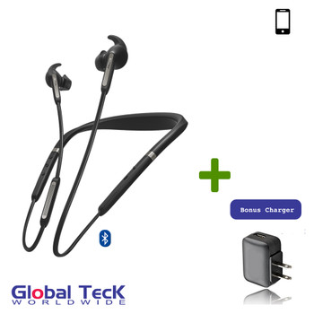 Jabra Elite 65e Bluetooth Neckband with Microphone, Active Noise Canceling