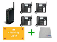 Vtech VSP600 and VSP608 | DECT Base, Up to 6 SIP accounts | Cordless Office Desk Phone | with Microfiber Cleaning Cloth (VTECH-VSP600-608-B4)
