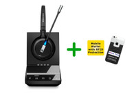 MAC Compatible Sennheiser SDW 5015 Wireless Computer Headset - Microsoft Skype Lync Certified cordless Headset | Compatible with Windows PC and MAC - iOS (SEN SDW5015-ML)