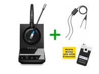 Cisco Compatible Sennheiser SDW 5015 Wireless Headset Bundle - Deskphones and PC/MAC, Cisco EHS Included | Cisco Models: 7821, 7841, 7861, 7942g, 7945g, 7962g, 7965g, 7975g, 8811, 8841, 8845 (SEN SDW5015-CIS1)