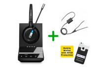 Avaya Compatible Sennheiser SDW 5015 Wireless Headset Bundle - For Avaya Deskphones and PC/MAC, Avaya EHS Included | Compatible Models: J139, J169, J179, 1400, 9400, 9500 Series and Avaya 96x1 IP series (SEN SDW5015-AVA4)