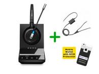 Avaya Compatible Sennheiser SDW 5015 Wireless Headset Bundle - For Avaya Deskphones and PC/MAC, Avaya EHS Included | Compatible Models: J139, J169, J179, 1400, 9400, 9500 Series and Avaya 96x1 IP series (SEN SDW5015-AVA4)