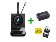 Yealink Compatible Sennheiser Cordless SDW 5016 Headset Bundle - For Yealink Deskphones, Bluetooth Phones, PC/MAC with Yealink EHS Adapter | Compatible Yealink IP Phones: T48G, T46G, T42G, T41P, T38G, T28P, T26P (SEN SDW5016-YEA)