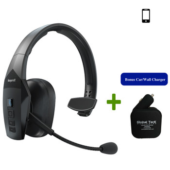 VXi BlueParrott B550-XT Bluetooth Headset Bundle | Includes 2 USB Port Car/Wall Charger