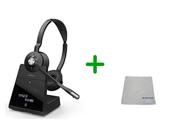 Cisco Compatible Jabra Engage 75 Wireless Headset Bundle, 9559-583-125-CIS-C | for Cisco Deskphones, Bluetooth Phones, PC/MAC - Cisco Models: 7925, 7926, 8945, 9951, 9971, 8845, 8851, 8861, 8865, DX650, E20, EX60, EX90, Jabber, DX70, DX80