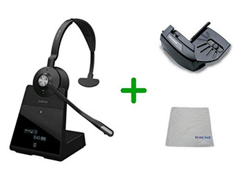 Cisco Compatible Jabra Engage 75 Wireless Mono Headset Bundle with Lifter, 9556-583-125-CIS-B | For Cisco Deskphones, Bluetooth Phones, PC/MAC - Cisco Models:  6901, 6911, 6921, 6941, 6961, 7902, 7905, 7911, 7912, 7931, 7940G, 7941 7960, 7961 ,7970,  7970G, 7971G