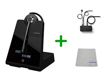 Avaya Compatible Jabra Engage 75 Wireless Headset Bundle with EHS Adapter, 9555-583-125-AVA35 | Avaya Deskphones, Bluetooth Phones, PC/MAC - Compatible Models: J169, J179, 1608, 1616, 1608, 1616, 9620, 9630, 9640, 9650 | 9-hour battery