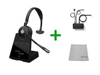 Avaya Compatible Jabra Engage 65 Wireless Mono Headset Bundle with EHS Adapter, 9553-553-125-AVA35 | Avaya Deskphones and PC/MAC - Compatible Models: J169, J179, 1608, 1616, 1608, 1616, 9620, 9630, 9640, 9650 | Busy Light