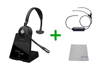 Avaya Compatible Jabra Engage 65 Wireless Mono Headset Bundle with EHS Adapter, 9553-553-125-AVA33 | Avaya Deskphones and PC/MAC - Compatible Models: 1403, 1408, 1416, 9404, 9408, 9410, 9504, 9508, 9608, 9611-G, 9621G , 9624, 9641G, 9641GS| Busy Light