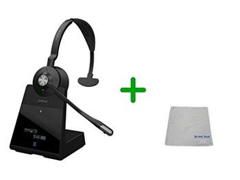 Avaya Compatible Jabra Engage 75 Wireless Mono Headset Bundle, 9556-583-125-AVA-C | Bluetooth Phones, PC/MAC, USB, Select Avaya Desk Phones - Compatible Vantage Series - K155, K165, K175 | Busy Light
