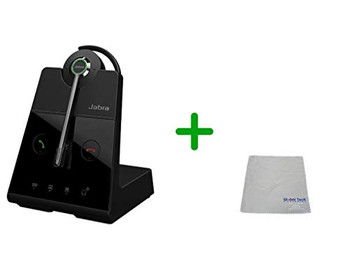 Avaya Compatible Jabra Engage 65 Wireless Convertible Headset with EHS Adapter, 9555-553-125-AVA-C | Select Avaya Desk Phones,  PC/MAC, USB -  Compatible Avaya: Vantage Series K155, K165, K175 | Busy Light