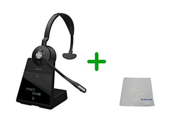 Avaya Compatible Jabra Engage 65 Wireless Mono Headset Bundle, 9553-553-125-AVA-C | Select Avaya Desk Phones,  PC/MAC, USB -  Compatible Avaya: Vantage Series K155, K165, K175  | Busy Light