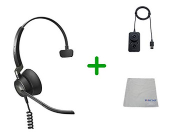 Jabra Engage 50 Headset USB-C, Microsoft Skype Version Audio Controller - PC/MAC, USB Desk Phones with Cleaning Cloth