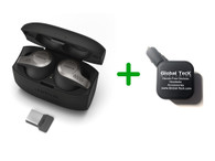 Jabra 65T Bluetooth Headset Earbuds - Evolve 65T 6598-832-109-B | Compatible for Skype for Business, Alexa, Siri, Google Assist | Wireless Bluetooth for Music, PC/MAC, Android, iOS devices