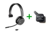Plantronics Voyager 4210-UC Bluetooth Headset - USB-A Dongle Bundle