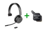 Plantronics Voyager 4210-UC Bluetooth Headset - USB-C Dongle Bundle