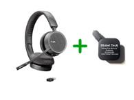 Plantronics Voyager 4220-UC Bluetooth Headset - USB-A Dongle Bundle