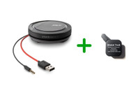 Plantronics Calisto 5200 Rechargeable Speaker - Smartphone (3.5mm) and PC, Charger | Compatible with Skype for Business, Jabber, USB Deskphones, RingCentral