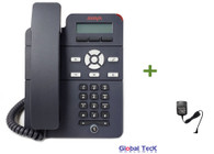 Avaya IP Phone J129 Bundle with Power Supply | Single Line Phone | Dual Ethernet Port | 700513639