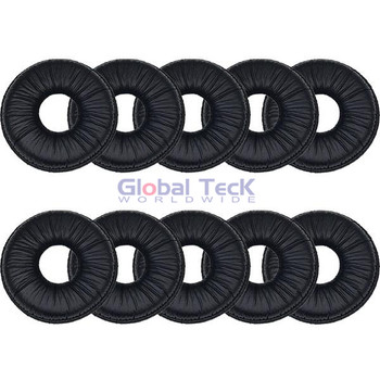 Spare Leatherette Ear cushions (10 pack) for Mitel Cordless Headset (5330, 5340, 5360), Jabra GN9330 and GN9350 , 14101-08