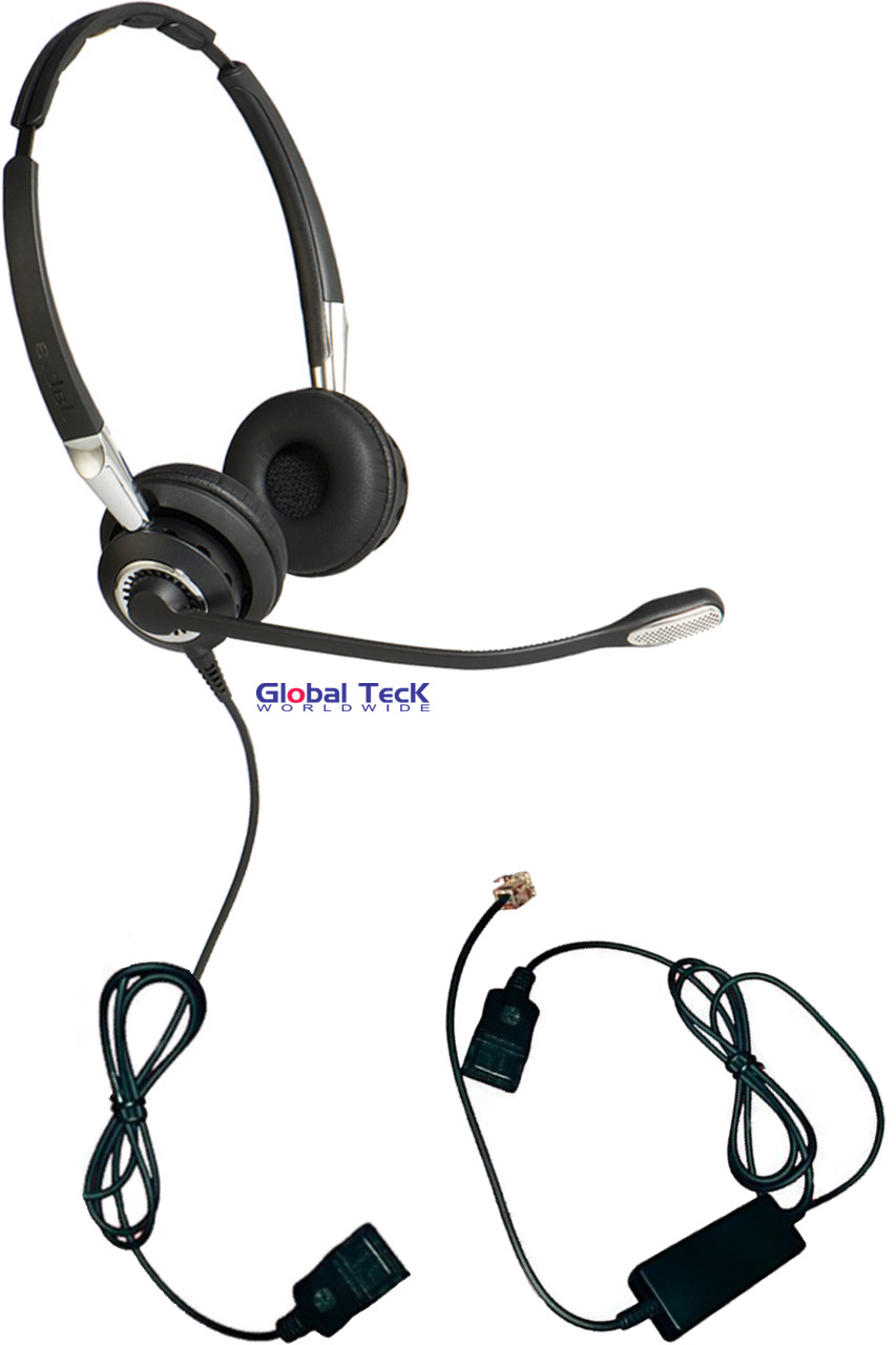 Jabra BIZ 2425 Duo Direct Connect headset with smart cord | Use with Cisco,  Mitel, Shoretel, Nortel, NEC, Toshiba, Polycom, Yealink and more