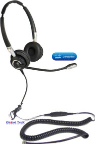 Cisco Compatible Jabra BIZ 2475 Duo Ultra Noise Canceling Headset