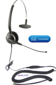 Jabra Headset plugs into Cisco Headset port.